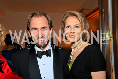 Jordanian Ambassador Prince Zeid Bin Ra'ad and Princess Sarah Zeid. Photo by Tony Powell. The Purple Rain Ball. Swedish Ambassador's residence. May 13, 2010
