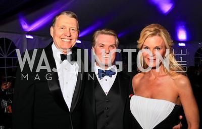 Aubrey Sarvis, Jack and Susanna Quinn. Photo by Tony Powell. The Purple Rain Ball. Swedish Ambassador's residence. May 13, 2010