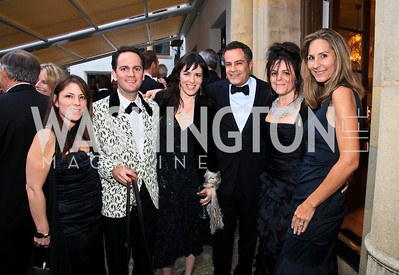 Nicole Boxer, Richard Marks, Nora Maccoby, Peter Pappas, Izette Folger, Brady Arundel. Photo by Tony Powell. The Purple Rain Ball. Swedish Ambassador's residence. May 13, 2010