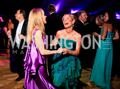 Cindy Jones, Mariella Trager. Photo by Tony Powell. The Purple Rain Ball. Swedish Ambassador's residence. May 13, 2010