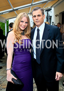 Amanda and Curtis Polk. Photo by Tony Powell. The Purple Rain Ball. Swedish Ambassador's residence. May 13, 2010