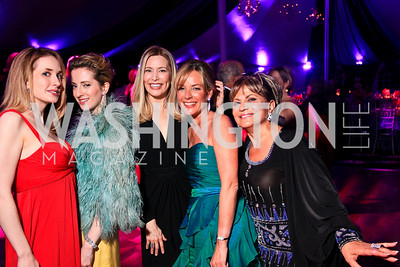 Cara Conway, Beth Masri, Pia-Maria Norris, Mariella Trager, Annie Totah. Photo by Tony Powell. The Purple Rain Ball. Swedish Ambassador's residence. May 13, 2010