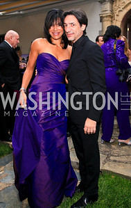 Septime Webre, Ann Walker Marchant. Photo by Tony Powell. The Purple Rain Ball. Swedish Ambassador's residence. May 13, 2010
