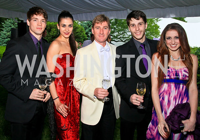 Jonathan Jordan, Sona Kharatian, David Palmer, Corey Landolt, Jade Payette. Photo by Tony Powell. The Purple Rain Ball. Swedish Ambassador's residence. May 13, 2010