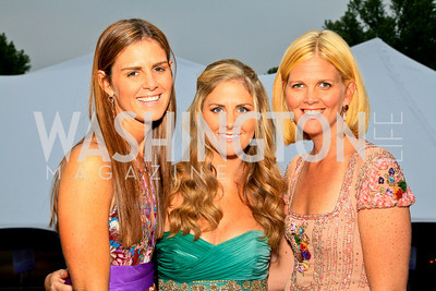 Sisters Mae Grennan, Michelle Maddux, Meg Ferguson. Photo by Tony Powell. The Purple Rain Ball. Swedish Ambassador's residence. May 13, 2010