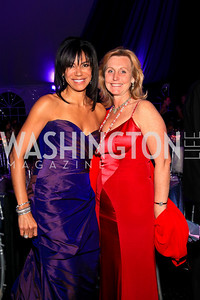 Ann Walker Marchant, Eva Hafstrom. Photo by Tony Powell. The Purple Rain Ball. Swedish Ambassador's residence. May 13, 2010