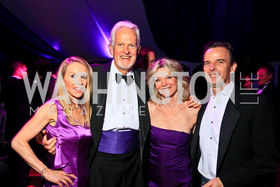 Cindy Jones, Jack Davies, Kay Kendall, Evan Jones. Photo by Tony Powell. The Purple Rain Ball. Swedish Ambassador's residence. May 13, 2010