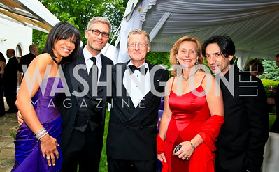 Ann Walker Marchant, Rene Eskengren, Jonas and Eva Hafstrom, Septime Webre. Photo by Tony Powell. The Purple Rain Ball. Swedish Ambassador's residence. May 13, 2010
