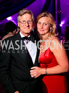 Swedish Ambassador Jonas Hafstrom and Eva Hafstrom. Photo by Tony Powell. The Purple Rain Ball. Swedish Ambassador's residence. May 13, 2010