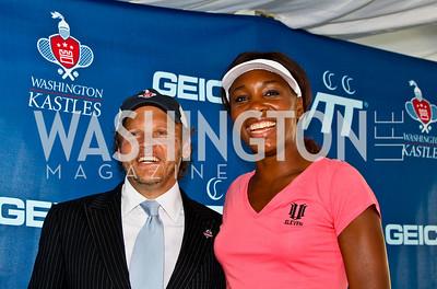 Photo by Tony Powell. Mark Ein, Venus Williams. Kastles VIP Reception. Kastles Stadium. July 7, 2010