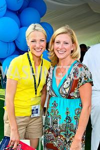 Photo by Tony Powell. Lindsay Czarniak, Jessica Gibson. Kastles VIP Reception. Kastles Stadium. July 7, 2010