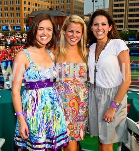 Photo by Tony Powell. Sally Stiebel, Kristin Sempeles, Danielle Viera. Kastles VIP Reception. Kastles Stadium. July 7, 2010