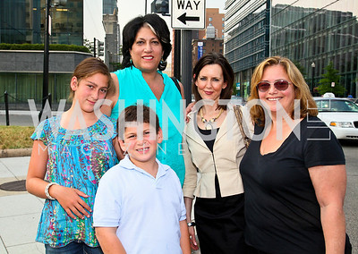 Photo by Tony Powell. Rachel and David Greenberg, Tammy Haddad, Susan Gilchrist, Hilary Rosen. Kastles VIP Reception. Kastles Stadium. July 7, 2010