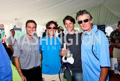 Photo by Tony Powell. Mike Scherer, Dan Waldman, Alastair Garland, Fred McNair. Kastles VIP Reception. Kastles Stadium. July 7, 2010