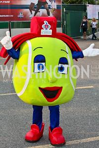 "Photo by Tony Powell. Kastles Mascot ""Slice."" Kastles VIP Reception. Kastles Stadium. July 7, 2010"