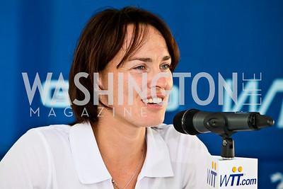 Photo by Tony Powell. Martina Hingis. Kastles VIP Reception. Kastles Stadium. July 7, 2010