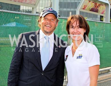 Photo by Tony Powell. Mark Ein, Martina Hingis. Kastles VIP Reception. Kastles Stadium. July 7, 2010