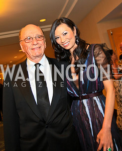 Rupert and Wendi Murdoch. Photo by Tony Powell. WHCAD pre-parties. Hilton Hotel. May 1, 2010