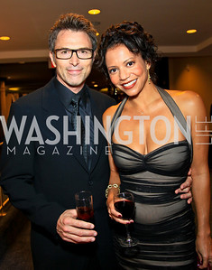 Tim Daly, Gloria Reuben. Photo by Tony Powell. WHCAD pre-parties. Hilton Hotel. May 1, 2010