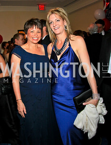 Valerie Jarrett, Katherine Weymouth. Photo by Tony Powell. WHCAD pre-parties. Hilton Hotel. May 1, 2010