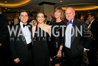 Julius Genachowski, Rachel Goslins, Debbie and Rocco Landesman. Photo by Tony Powell. WHCAD pre-parties. Hilton Hotel. May 1, 2010