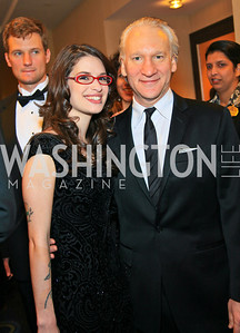 Cara Santa Maria, Bill Maher. Photo by Tony Powell. WHCAD pre-parties. Hilton Hotel. May 1, 2010