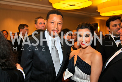 Terrence Howard, Kim Kardashian. Photo by Tony Powell. WHCAD pre-parties. Hilton Hotel. May 1, 2010
