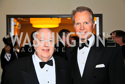 Fox News Channel Chairman Roger Ailes, Congressman David Dreier. Photo by Tony Powell. WHCAD pre-parties. Hilton Hotel. May 1, 2010