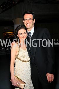 ABC News financial correspondent Bianna Golodryga and Peter Orszag. Photo by Tony Powell. WHCAD pre-parties. Hilton Hotel. May 1, 2010