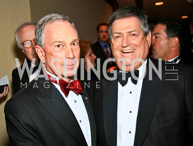 NYC Mayor Michael Bloomberg, Ken Duberstein. Photo by Tony Powell. WHCAD pre-parties. Hilton Hotel. May 1, 2010