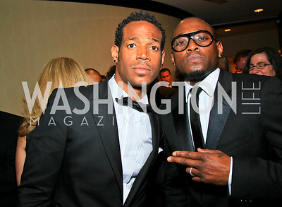 Marlon Wayans, Omar Epps. Photo by Tony Powell. WHCAD pre-parties. Hilton Hotel. May 1, 2010