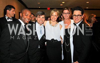 Ebs Burnough, George Stephanopoulos, Alexandra Wentworth, Katie McGrath, JJ Abrams. Photo by Tony Powell. WHCAD pre-parties. Hilton Hotel. May 1, 2010