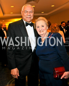 General Colin Powell, Madeleine Albright. Photo by Tony Powell. WHCAD pre-parties. Hilton Hotel. May 1, 2010