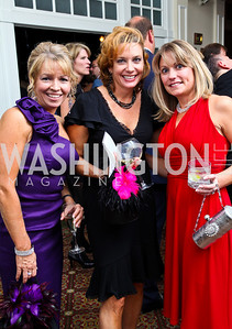 Photo by Tony Powell. Dawn Laughlin, Michele Chesneau, Allison Ramsey. Wings of Hope Gala. Trump Golf Club. November 6, 2010