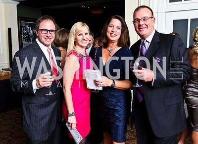 Photo by Tony Powell.  Bob and Juliana Miller, Melanie and Brad Love. Wings of Hope Gala. Trump Golf Club. November 6, 2010