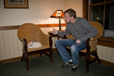 After the game, they continued their heated discussion into the hotel lounge.