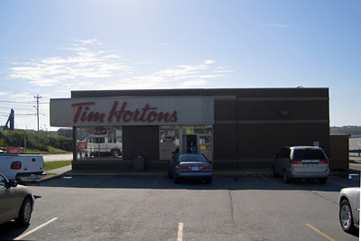 So what exactly is in Canada?  Well, first there's Tim's - kind of a cross between Dunkin Doughnuts and Panera bread.  But way better and probably a lot less healthy.