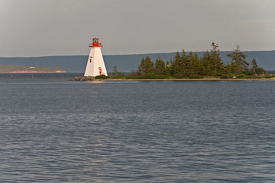 Lighthouse on Bras D' Or lake in Baddeck