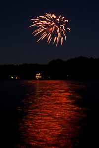 Fireworks across the lake