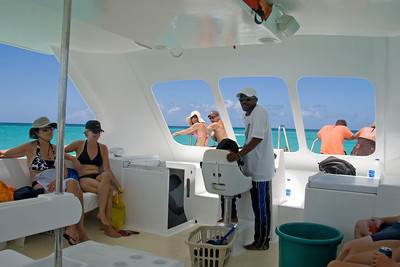 We took a 1/2 day boat tour on Thursday where Captain Sean led us around the island and we got to dive for conchs and snorkel in a barrier reef.  Also ate lunch on a small island
