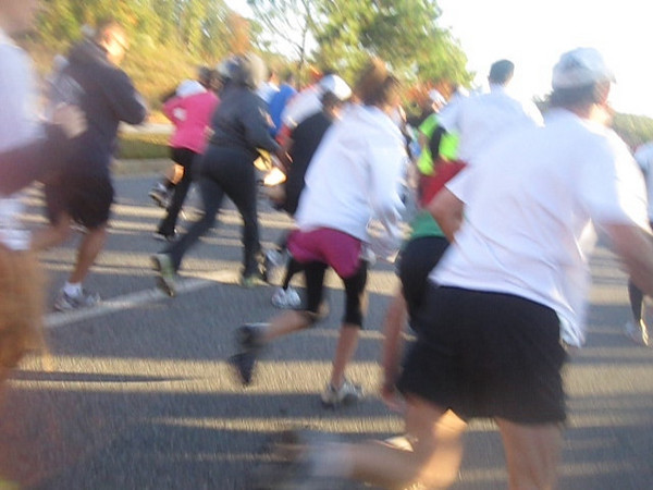 Video of the Jay's Hope 5K race start.  And they're off!