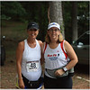 Bonnie Murphey and Donna before the MIBM half marathon- we were dry at this point.. not for long!
