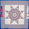 Second Place<br /> Best Machine Quilting<br /> Elegant Lone Star<br /> Lori Wichers
