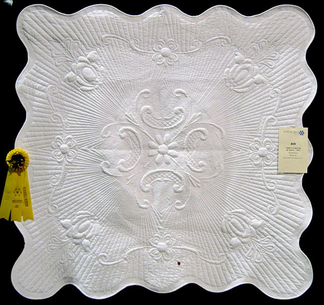 Honorable Mention<br /> There's a Bug on My Quilt - Two<br /> Elaine Chord