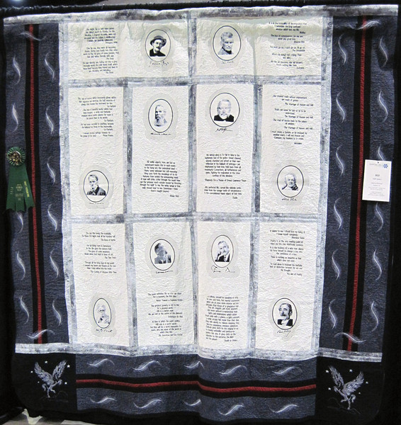 Judge's Recognition<br /> Poet Quilt<br /> Genette McKnight