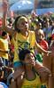 Brazilian fans react during the South Africa 2010 World Cup soccer match between Brazil and Ivory Coast on Copacabana beach, Rio de Janeiro, Brazil, June 20, 2010 (AustralFoto<br /> /Renzo Gostoli)
