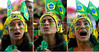 A Brazilian fan reacts during the South Africa 2010 World Cup soccer match between Brazil and North Korea on Copacabana beach, Rio de Janeiro, Brazil, June 15, 2010 (AustralFoto<br /> /Renzo Gostoli)