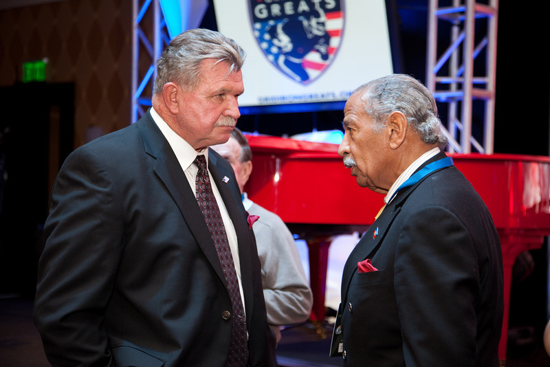 Coach Ditka and Congressman Conyers