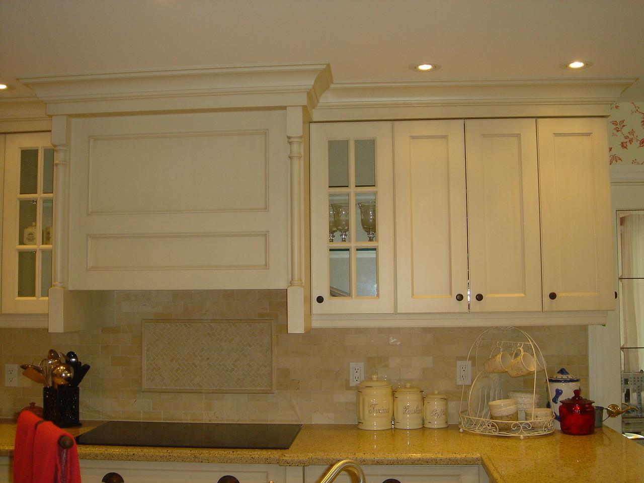Cooktop and upper cupboards