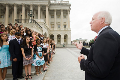 Photographic coverage of students meeting Georgia legislators on Capitol Hill